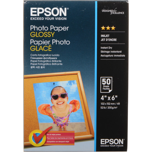 """Epson Photo Paper Glossy (4 x 6"""", 50 Sheets)"""