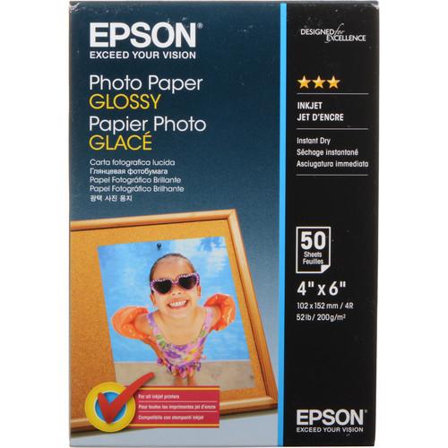 "Epson Glossy Photo Paper Borderless - 4x6"" - 50 Sheets"