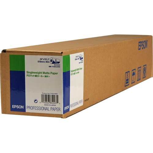"Epson Singleweight Matte Inkjet Paper (24"" x 131.7' Roll)"