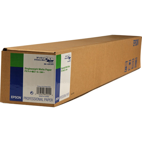 "Epson Singleweight Matte Inkjet Paper (36"" x 131.7' Roll)"