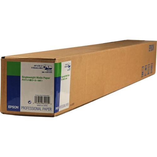 "Epson Singleweight Matte Inkjet Paper (44"" x 131.7' Roll)"
