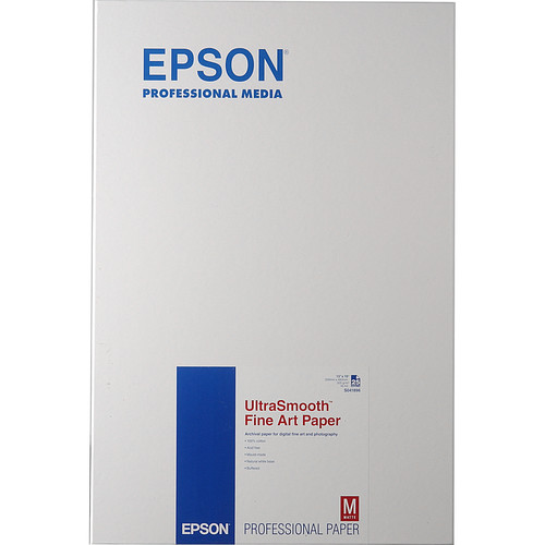 """Epson Ultra-Smooth Fine Art Paper - 13x19"""" - 25 Sheets"""