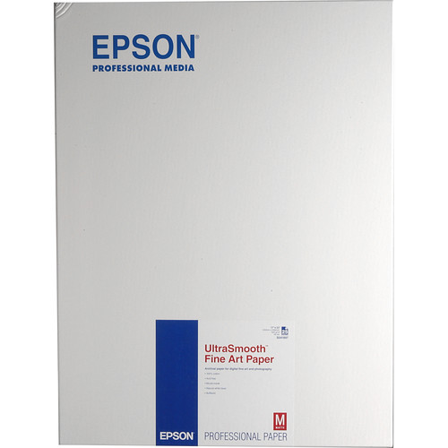 """Epson UltraSmooth Fine Art Paper (17 x 22"""", 25 Sheets)"""