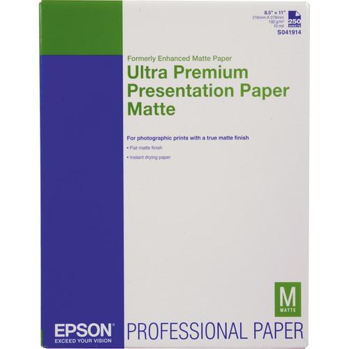 "Epson Ultra Premium Presentation Paper Matte (8.5 x 11"", 250 Sheets)"