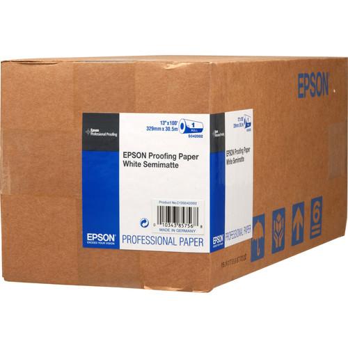 "Epson Proofing White Semimatte Inkjet Paper (13"" x 100' Roll)"