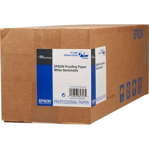"Epson Proofing White Semimatte Inkjet Paper (17"" x 100' Roll)"