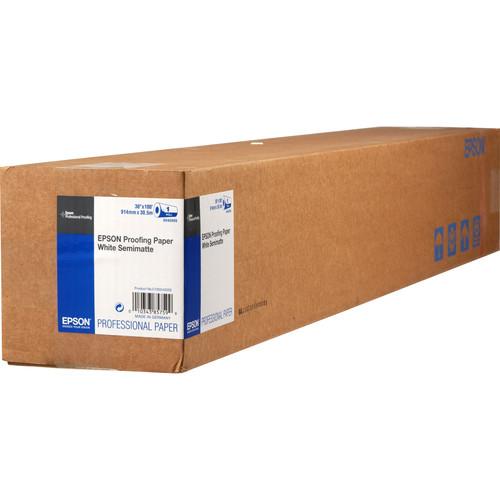 "Epson Proofing White Semimatte Inkjet Paper (36"" x 100' Roll)"