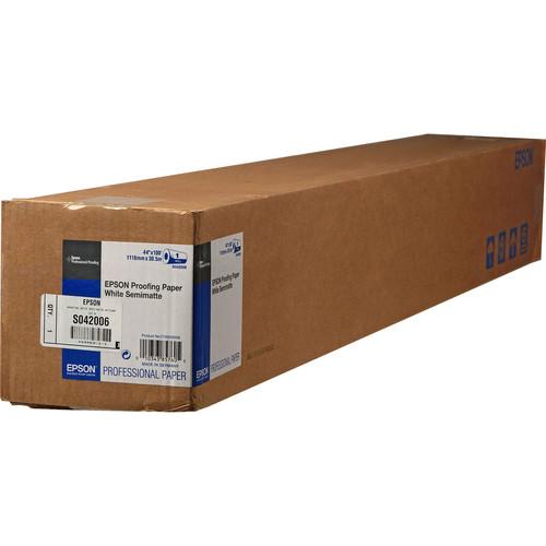 "Epson Proofing White Semimatte Inkjet Paper (44"" x 100' Roll)"