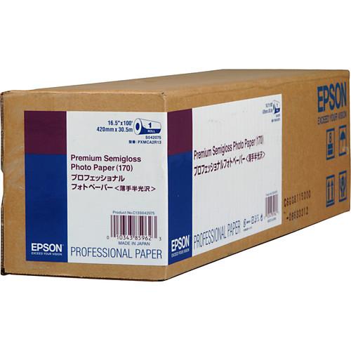 "Epson Premium Semigloss Photo Inkjet Paper (16.5"" x 100' Roll)"