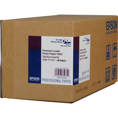 "Epson Ultra Premium Luster Archival Photo Inkjet Paper (10"" x 100' Roll)"