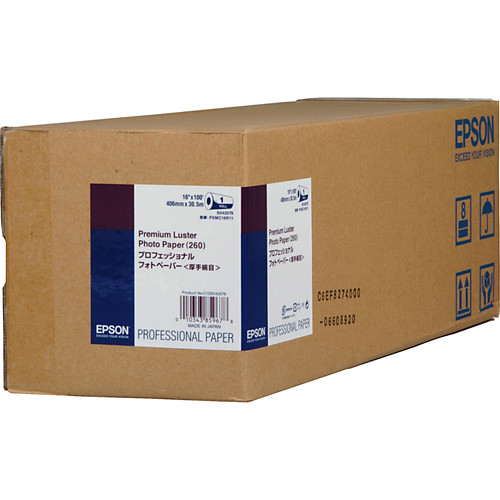 """Epson Ultra Premium Luster Archival Photo Inkjet Paper (16"""" x 100' Roll)"""