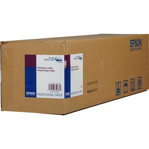 "Epson Premium Luster Photo Inkjet Paper (20"" x 100' Roll)"