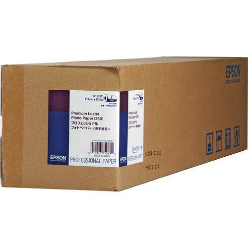 """Epson Ultra Premium Luster Archival Photo Inkjet Paper (24"""" x 100' Roll)"""