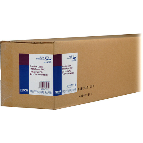 "Epson Premium Luster Photo Inkjet Paper (36"" x 100' Roll)"