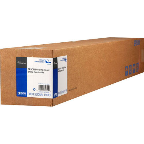 "Epson Proofing White Semimatte Inkjet Paper (60"" x 100' Roll)"