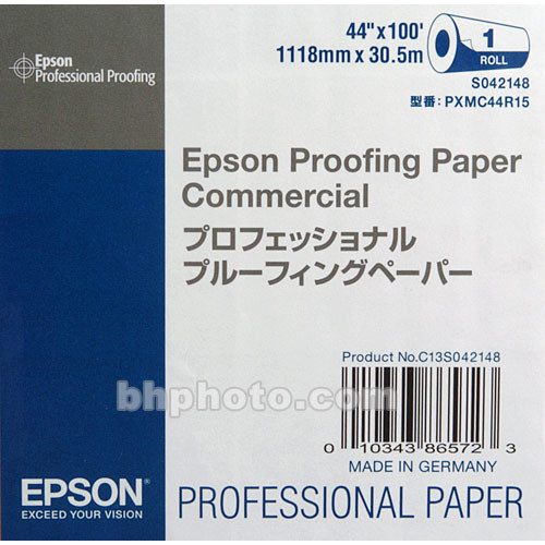 "Epson Commercial Inkjet Proofing Paper (44"" x 100' Roll)"