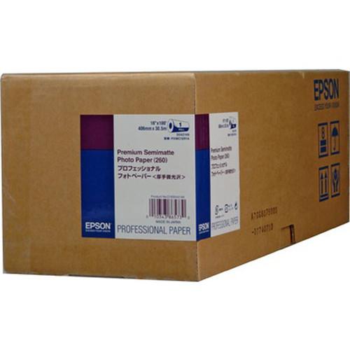 "Epson Premium Semimatte Archival Photo Inkjet Paper (16"" x 100' Roll)"