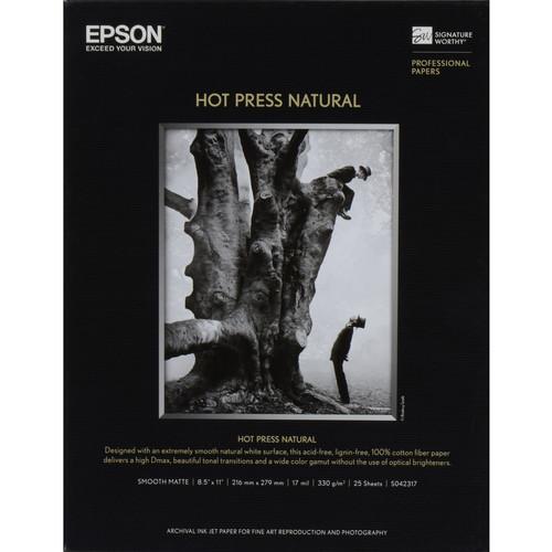 """Epson Hot Press Natural Paper (17 x 22"""", 25 Sheets)"""