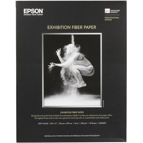 "Epson Exhibition Fiber Paper (8.5 x 11"", 25 Sheets)"