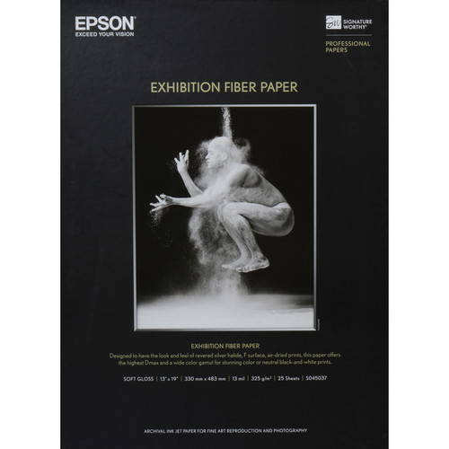 """Epson Exhibition Fiber Paper (13 x 19"""", 25 Sheets)"""