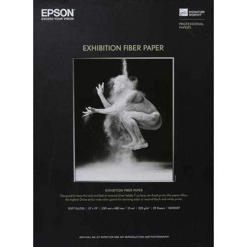 "Epson Exhibition Fiber Paper for Inkjet (13 x 19"", Super B , 25 Sheets)"