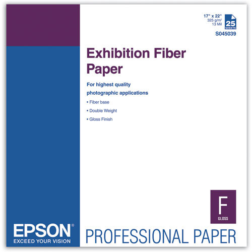 "Epson Exhibition Fiber Paper (17 x 22"", 25 Sheets)"
