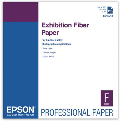 """Epson Exhibition Fiber Paper for Inkjet (24 x 30"""" , 25 Sheets)"""