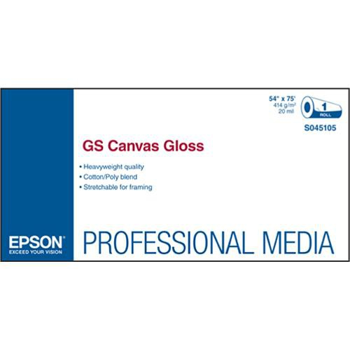 """Epson GS Canvas Gloss for Solvent Ink Printers (54"""" x 75' Roll)"""