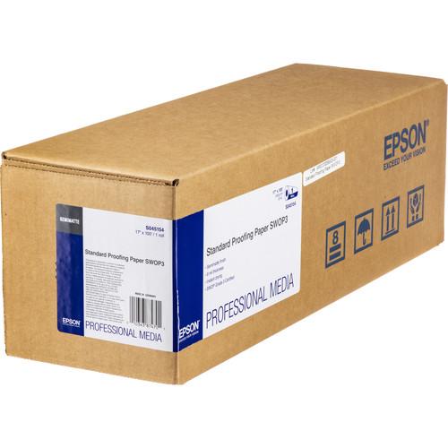 """Epson Standard Proofing SWOP3 Semimatte Inkjet Paper (17"""" x 100' Roll)"""