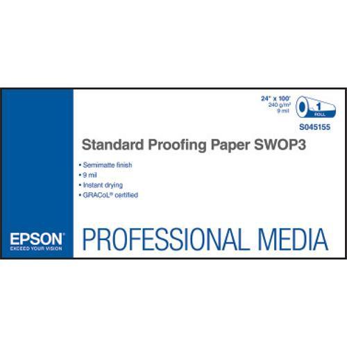 """Epson Standard Proofing SWOP3 Semimatte Inkjet Paper (24"""" x 100' Roll)"""