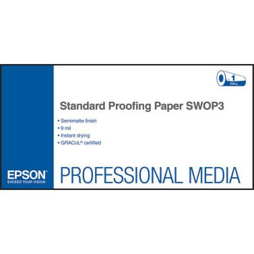 """Epson Standard Proofing SWOP3 Semimatte Inkjet Paper (44"""" x 100' Roll)"""