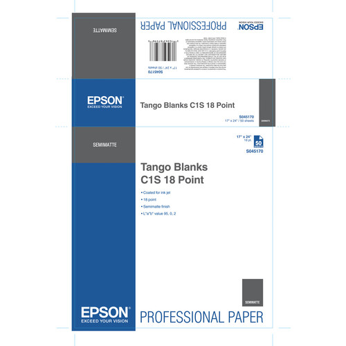 """Epson S045170 Tango Blanks C1S 18 Point Proofing Paper (17 x 36"""" / 50 Sheets)"""
