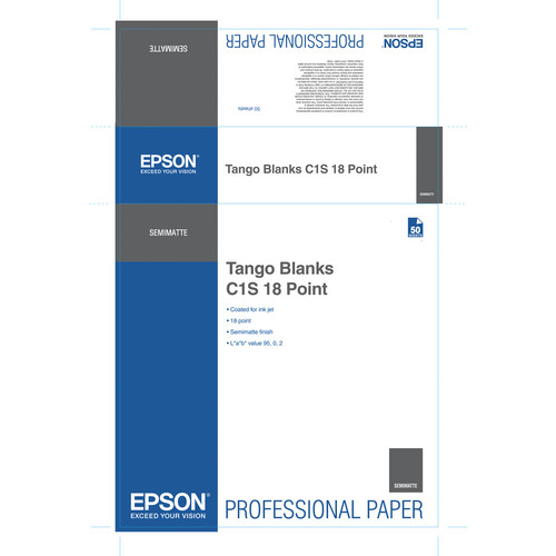 "Epson S045171 Tango Blanks C1S 18 Point Proofing Paper (24 x 36"" / 50 Sheets)"