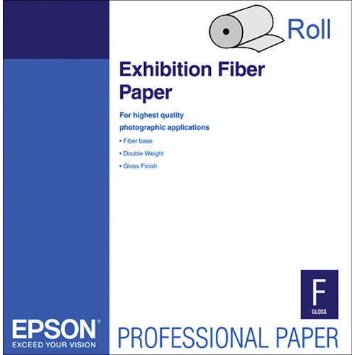 "Epson Exhibition Fiber Photo Inkjet Paper (64"" x 50' Roll)"