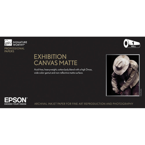"Epson Exhibition Canvas Matte Archival Inkjet Paper (13"" x 20' Roll)"