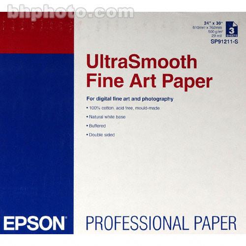 IM51744YW Epson Ultrasmooth Fine Art Paper Sheets