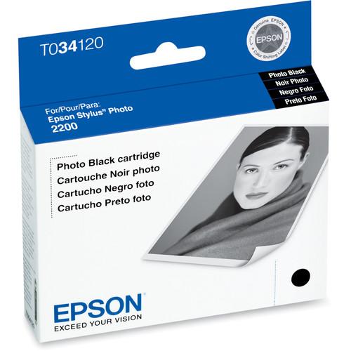 Epson UltraChrome Photo Black Ink Cartridge for Epson Stylus Photo 2200 Printer