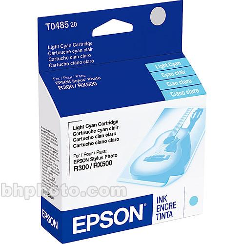 Epson Light Cyan Ink Cartridge for Stylus Photo R200, R220, R300, R320, R340 & RX500, RX600, RX620 Printers