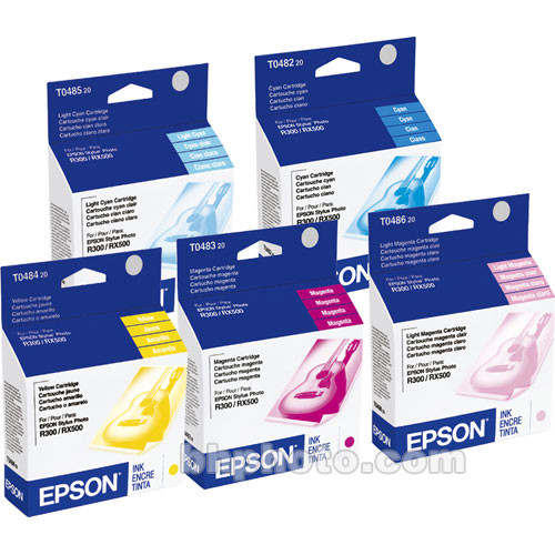 Epson T048920 Multi-Pack Color Ink Cartridges