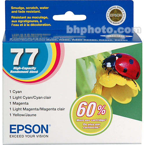 Epson Epson 77 High Capacity Claria Ink: Full Color Cartridge Set