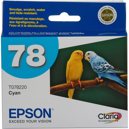 Epson 78 Claria Hi-Definition Cyan Ink Cartridge