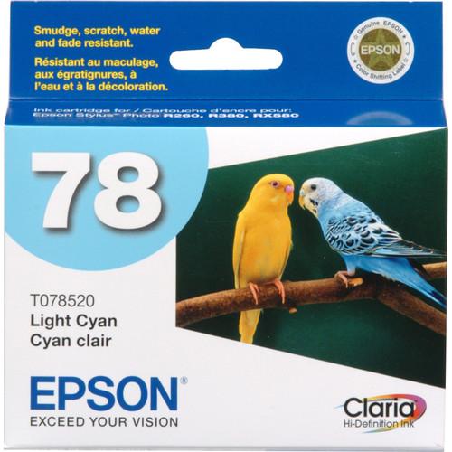 Epson 78 Claria Hi-Definition Light Cyan Ink Cartridge