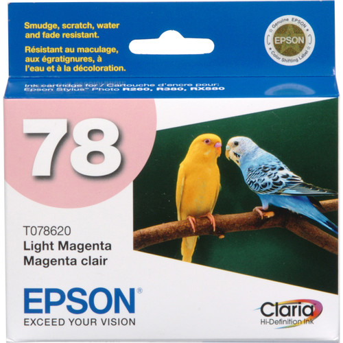 Epson 78 Claria Hi-Definition Light Magenta Ink Cartridge