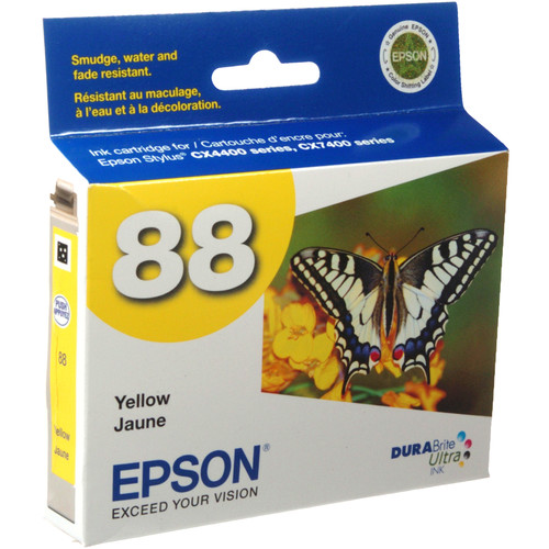 Epson 88 Moderate-Capacity Yellow Ink Cartridge