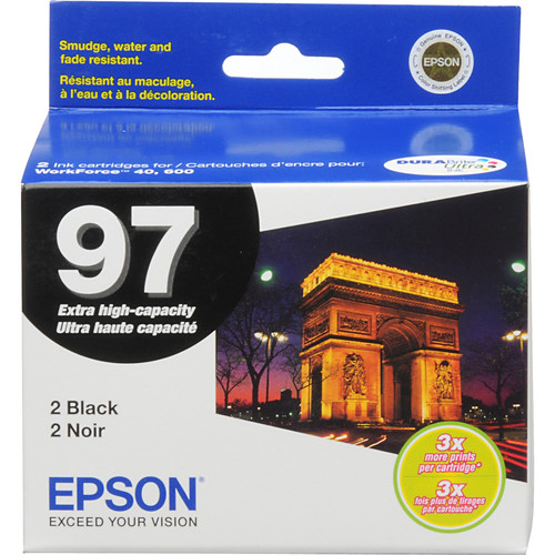 Epson T097120-D2 97 Extra-High Capacity Black Ink Cartridge (2 Pack)