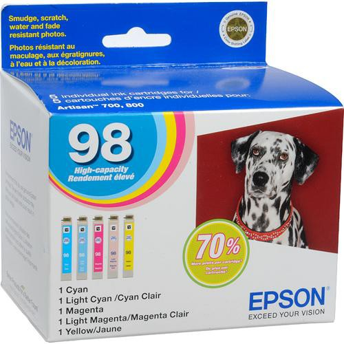 Epson Epson 98 High Capacity Claria Ink: Full Color Cartridge Set