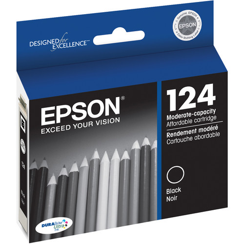 Epson 124 Moderate-Capacity Black Ink Cartridge