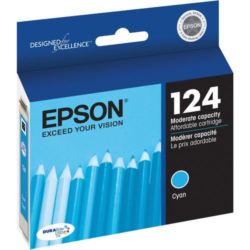 Epson 124 Moderate-Capacity Cyan Ink Cartridge