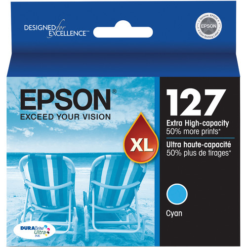 Epson T127220 127 Extra High-Capacity Cyan Ink Cartridge
