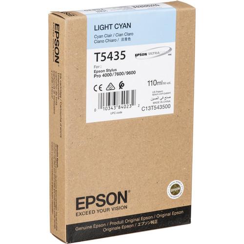 Epson UltraChrome, Light Cyan Ink Cartridge for Epson Stylus Pro 4000, 7600 & 9600 Printers (110ml)